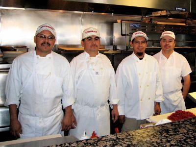 Chefs Martin,  Juan Carlos, Vincente and Zete