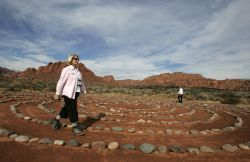Walking the labrynth at Red Mountain Spa  Photo: George Frey