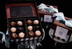 Jurist makes unique artisanal truffles for the holidays. This year's flavor collection will be espresso with milk chocolate, toffee crunch with dark chocolate, raspberry white chocolate and chai spice.