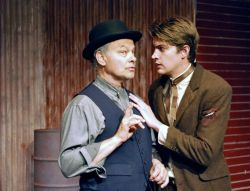 "Lloyd Pedersen and Ren Bell in ""The Pushcart Peddlars."" Photo: Doug Engalla"