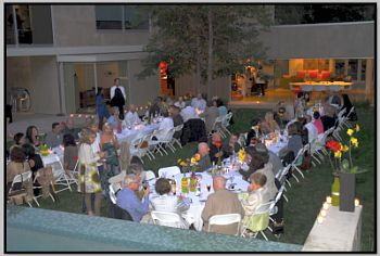 "Guests gather at One Night in Italy, an ""underground"" dinner event hosted by Amy Jurist. Photos courtesy of Amy's Culinary Adventure."
