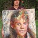 John Paul Thornton painted this portrait of Jaycee Lee Dugard