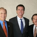 From left: VICA Board Chair Greg Lippe (Lippe, Hellie, Hoffer & Allison LLP), Mayor Gavin Newsom, VICA Board Member and event sponsor Jim Garrison (Pacific Federal Insurance Corp).