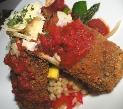Couscous and eggplant
