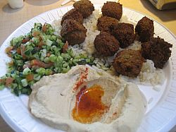 Stuff your own pita with the falafel plate ($8) or get it in a pita ($5) or a wrap$6)