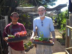 Cactus Ranch employee Alonzo helps  this writer's husband with his purchases.