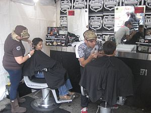 Floyds gave free haircuts with a donation for Locks for Love.