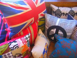 Pillows are designed with a variety of textiles. Photo: Karen Young