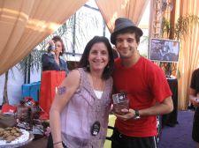"Roberta Koz Wilson in the Wango Tango VIP tent withe ""Dancing With the Stars"" winner Mario Ballas."