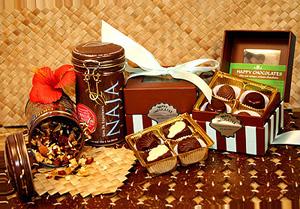Naja Tea and Happy Chocolates.