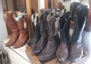 Pick through a selection of men's clothing and western boots. Photo: Karen Young