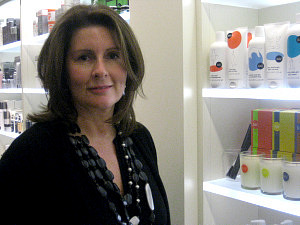 Nicky Kinnaird recently visited SpaceNK at Bloomingdales Sherman Oaks.