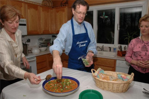 American Feast owner Jeff Deasy cooking Jambalaya. Photos coutesy American Feast.