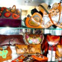 "Scandalo offers one-of-a-kind handmade leather clutches and bags designed by Damiano herself – her popular ""skull bags"" ranging from $220 - $520."