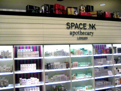 SpaceNK is located on the ground floor at Bloomingdales.