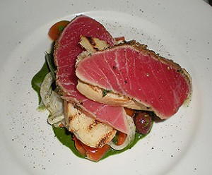 Appetizer of Fennel crusted Ahi. Photo: Carole Rosner