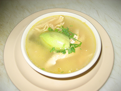 Consome de Pollo is one of the two homemade soups at Melody's-the other being, Albondigas. (Pictured) This chicken broth-based soup is prepared with rice, chicken, avocado, cilantro and tortillas.