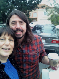 Dave Grohl and publicist/fan Roz Wolf.  Photo: Roz Wolf PR