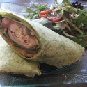 Seared ahi tuna and crab wrap with guacamole, arugula, tomato and herb ponzu aioli. ($9). Photos: Karen Young