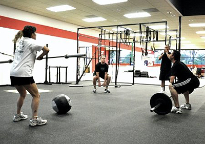 Crossfit in action.