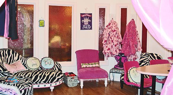 Zebra couches.