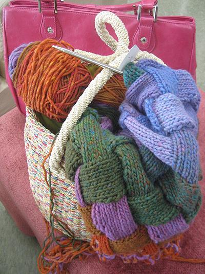 Knitting bag.
