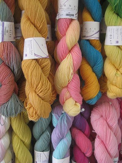 Skeins of yarn.