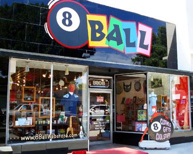 8 Ball gift store.
