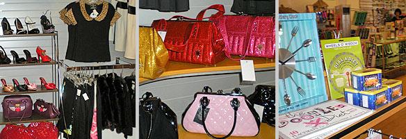 Clothing, purses, retro gifts. Photos: Carole Rosner