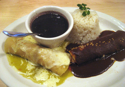 Enchilada Mole and Suiza.