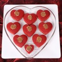 Red velvet hearts.