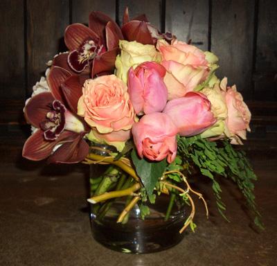 FLoral arrangement, $55.