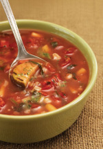 New low-fat choices at Panera include this garden vegetable soup as well as smoothies. Photo: Panera