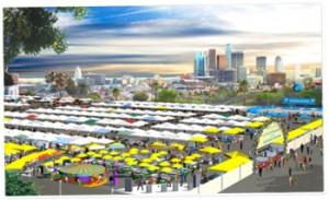 Artist rendering the LA Flea Market.