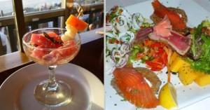 Tuna tartara la costanera and Mac Park appetizers. Photos: Mary McGrath