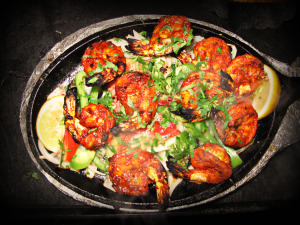 Tandoori Shrimp  Photos: Judith A. Proffer