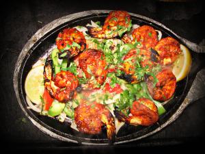 Tandoori Shrimp  Photos: Judith A. Proffer