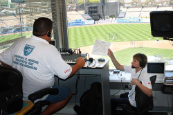 David Gottlieb in the booth with Mark Braverman