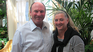BG owners Greg Pappas and Carolyn Niklas Pappas.  Carolyn's father headed the dining legacy beginning in Beverly Hills with Bistro and The Bistro Garden.   Photo: Karen Young