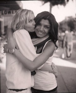 Tina Kesherian with Kirsten Dunst, who has been a client since age 12. Kirsten's mother, Inez, is now Kesherian's business partners at Belle Visage.
