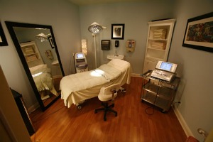 One of the treatment rooms at Belle Visage.