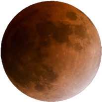 The moon will be brown or red instead of yellow under the total lunar eclipse.  Photo: Griffith Observatory