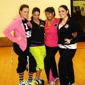 Left to right: Fit Squad owner Camille Larrauri (second from left) with instructors Madison Chioles, Gail Hatch, and Gabby Romo