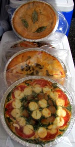 Quiches come with and without crust.