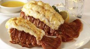 Lobster tails at Morton's.   Courtesy: Morton's
