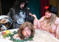 'Seyton' (Brandon Breault), 'Lady Macbeth' (Lisa Valenzuela and 'Macbeth' (Morgan Rusler).