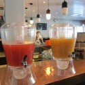 Bottomless mimosas at Prohibition Burger's new weekend brunch. Photo: Karen Young