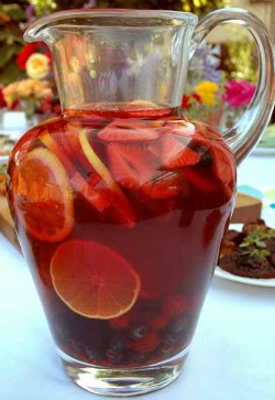 Make this sangria with red or white wine.