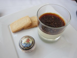 Panna Cotta with Expresso Caviar  Photo: Karen Young