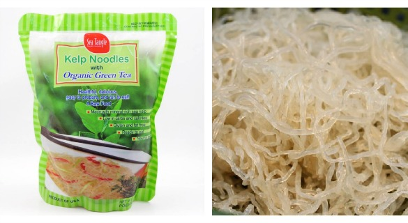 Trade kelp noodles for pasta for a low calorie, low carb healthy choice.